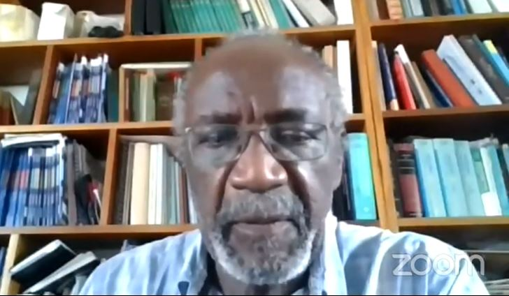 Dr. Neville Ballin, Consultant Anaesthetist speaks during the 'Good Ganja Sense' online forum on March 9, 2021